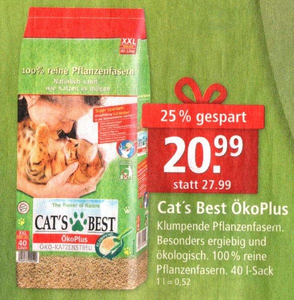 [Fressnapf] Katzenstreu Cat's Best Öko Plus 40 l