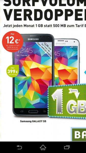 [Base Shop] Galaxy S5 für 399€ Galaxy S3 mini für 99€ Google Chrome Cast für 33€ Watchever für 3.99€/Monat