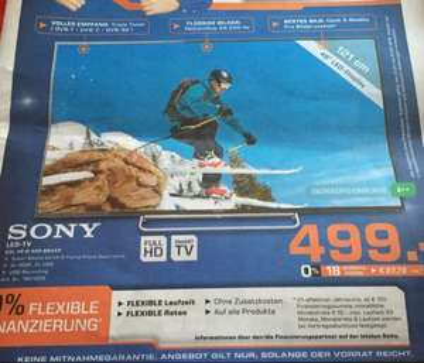 Lokal [Saturn Göttingen] Sony KDL 48w605 BBAEP