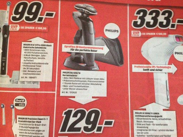 [Lokal] Mediamarkt Schweinfurt / Würzburg Philips RQ 1250/16 Rasierer 129€