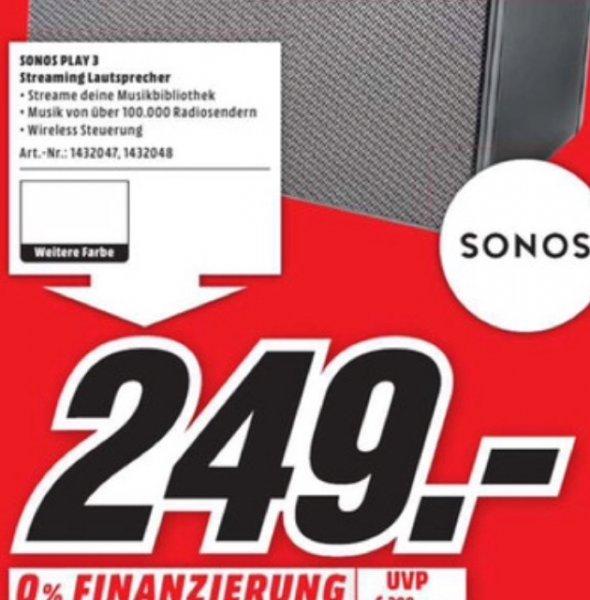 (Media Markt, lokal) Sonos Play 3 für 249€ in Aachen, Herzogenrath, Eschweiler & Hückelhoven