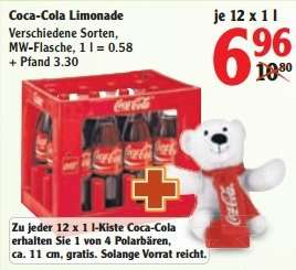12x1 Liter Coca-Cola, Sprite, Fanta, MezzoMix +Polarbären (Globus Rostock-Roggentin)
