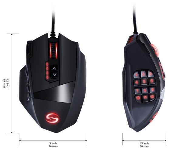 (Amazon Jedermann)UtechSmart Venus 50 Highend Gaming Maus (16.400 DPI etc) 36,99€