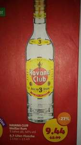 Havana Club 3 Jahre bei Penny am Framstag für 9,44€