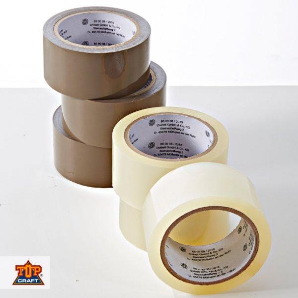[Aldi Nord] 3x Packband - Paketband - LEISE ABROLLEND - 66 m x 5 cm - (braun+transparent) für 2,59 EUR ODER Handabroller inkl. 2x Packband für 4,99 EUR - ab 09.02.