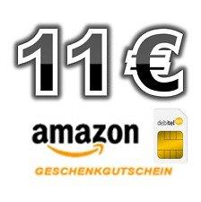 [@Ebay - wieder verfügbar] Debitel light + 11 Euro Amazon Gutschein