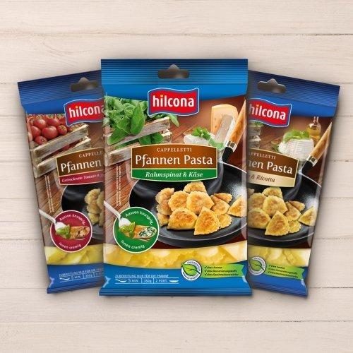 Hilcona Pfannen Pasta gratis testen. Geld zurück Aktion!
