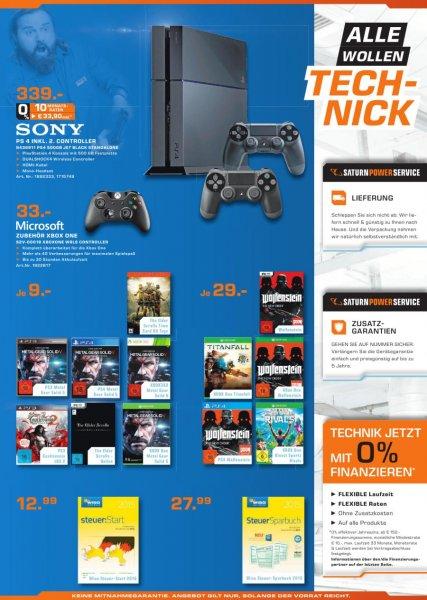 PS4 inkl 2. Controller für 339€(Saturn Magdeburg )