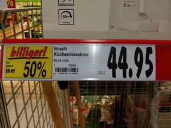 Lokal (Kaufland Jena Lobeda) Bosch Küchenmaschine MUM 4428 - noch 3 Stück