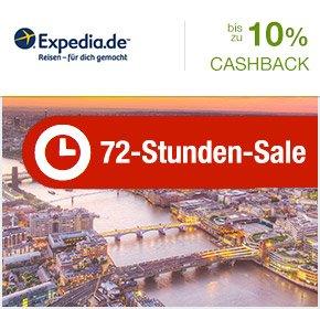 [QIPU] 72 Stunden sale bei Expedia und bis zu 10% Cashback      03.02. – 05.02.2015