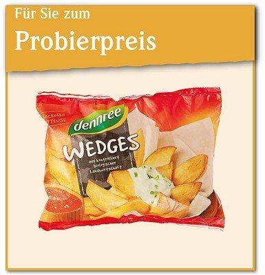 dennree Bio-Pommes-Frites oder Bio-Wedges