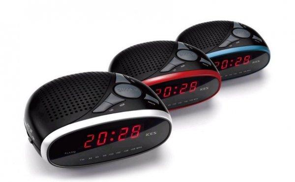 Lenco ICR-200 Uhrenradio (LED-Anzeige,Weckfunktion, UKW) für 7,77€ bei Notebooksbilliger