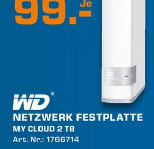 WD my cloud 2 TB (lokal Saturn Hamburg am 07.02.)