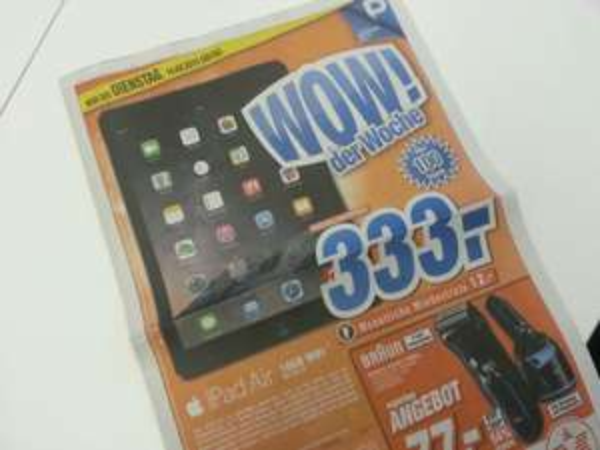 iPad Air 16GB WiFi für nur 333€! @ HEM expert Calw