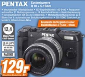[Offline] Pentax Q 10 Systemkamera + 5-15mm für 129 € bei Expert