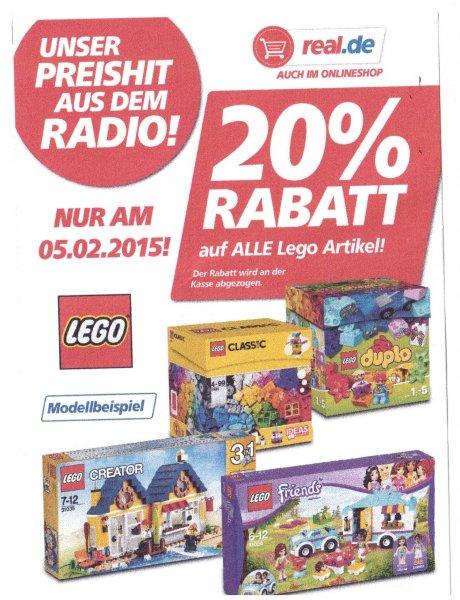Real 20% auf Lego  am 5.2.2015 - auch online