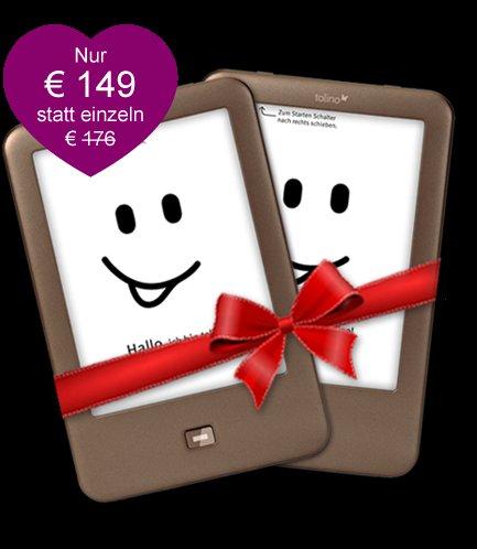 [eBook.de] zwei Tolino Shine (aktuelle Generation) für zusammen 149 €