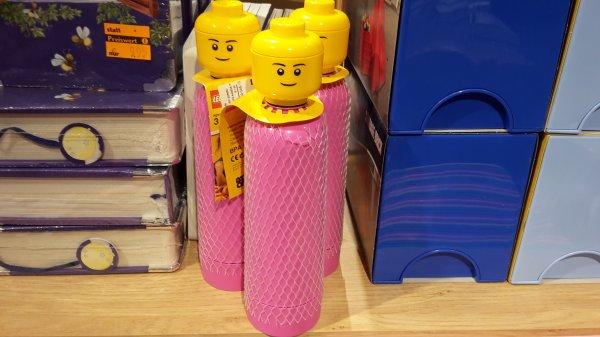 Lego Trinkflaschen mit Kopf (zum Halsumdrehen;-) bei Hugendubel online in Schwarz, Weiß oder Rosa