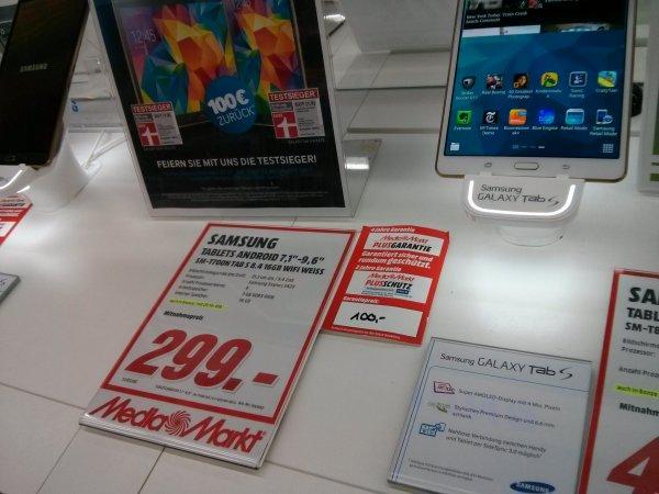 [Stuttgart-Vaihingen] Samsung Galaxy Tab S 8.4 für 299 Euro bei Media Markt (Dank Cashback 199 Euro)