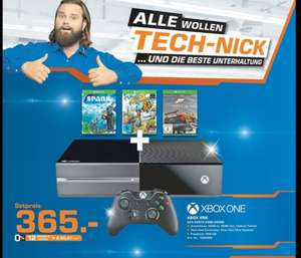 Xbox One plus 3 Spiele Saturn Augsburg (lokal)