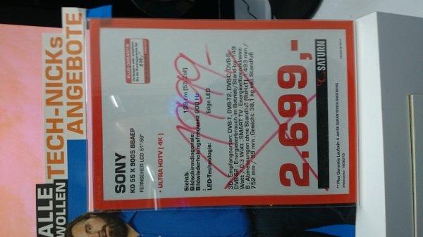 Sony kdl 55x9005b 1999€