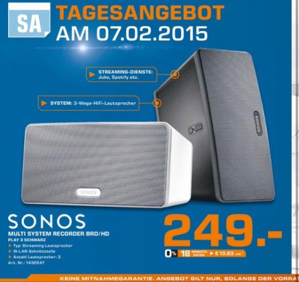Sonos Play 3 Tagesangebot am 07.02. Saturn Flensburg
