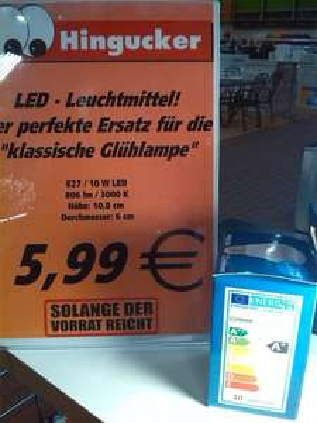 Local Dietzenbach @Globus LED Leuchtmittel E27 10W 3000k A+ für 5,99 €