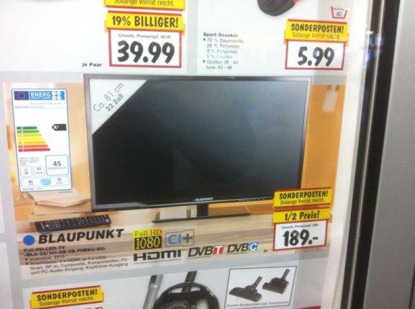 Blaupunkt TV Full-HD-LED 32 Zoll bei Kaufland für 189 € (50%) !!!