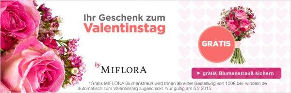 windeln.de - für 150€ einkaufen und einen Blumenstrauß (Wert: 24,95€)am Valentinstag gratis nur heute!!