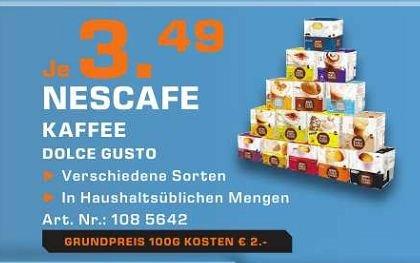[lokal Saturn Dortmund/Lünen/Soest...] Dolce Gusto Packung a 3.49 Euro