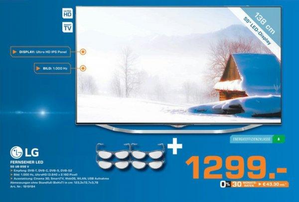 LG 55UB856v 1299€ Saturn Regensburg