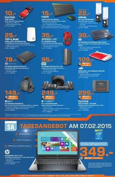 HP 15 zoll Notebook 15-r038ng i3; 8GB; 750GB; GeForce 820M; Windows 8.1 für 349€ tagesangebot (lokal Saturn Flensburg)