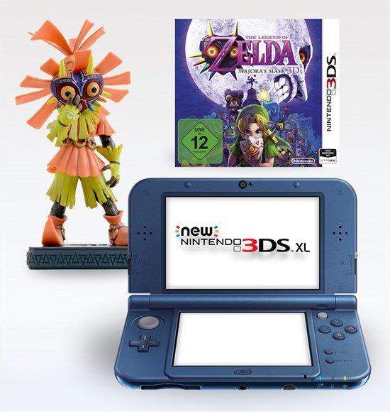Nintendo New 3DS XL blue + Majoras Mask 3D + Horror Kid Figur für 229,99 bei GameStop