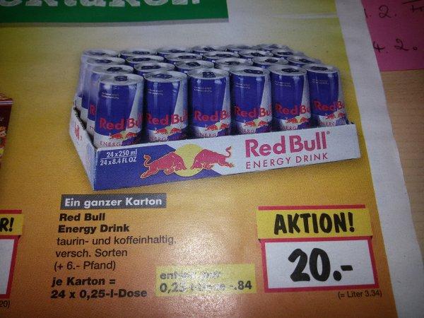 Kaufland ab 9.2.15 - RedBull - 24x250ml für 20€