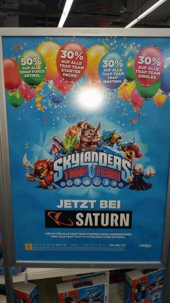 Saturn: 30 - 50 % auf Skylanders Swap Force und Trap Team Sets und Figuren