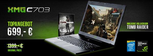 XMG Schenker C703 Notebook 17 Zoll Intel I7 Geforce GTX 765 für 569€