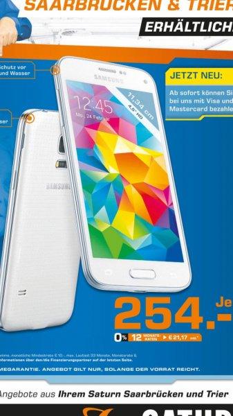 Samsung S5 Mini shimmery white 254,- @Saturn Trier / Saarbrücken