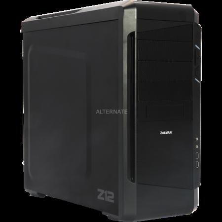 [ZackZack] Zalman Z12 - Midi Tower - ATX - ohne Netzteil ( ATX12V ) - Schwarz - USB/Audio mit Lüfter für 39,99€ VSK Frei