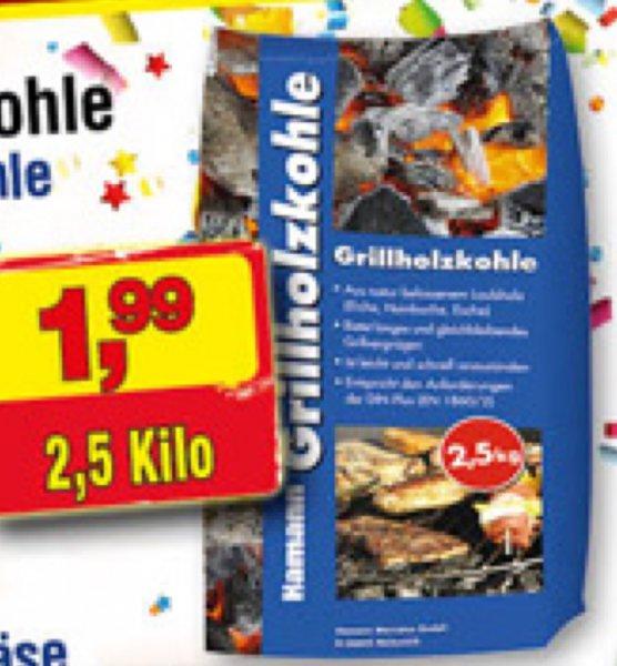 [Centershop] Angrillzeit! Grillholzkohle 2,5 Kg 1,99€