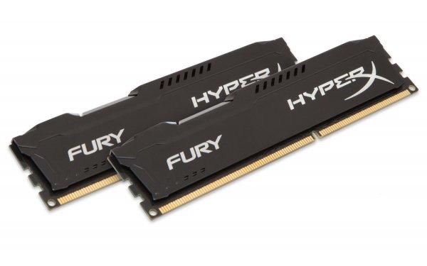16GB (2x8GB) KINGSTON HyperX FURY DDR3-1600 CL10 Black @ Amazon für 115€