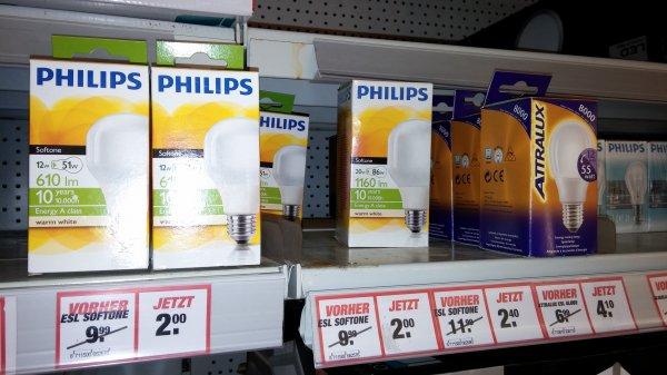 Lokal Toom Köthen - alte Leuchtmittel reduziert