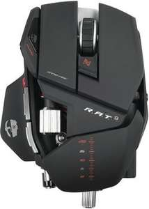 [Amazon & MediaMarkt] Mad Catz R.A.T. 9 Wireless Gaming Maus in matt-schwarz für 78€ - 25% Ersparnis