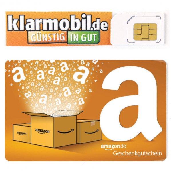18€ Amazon Gutschein + 10 Guthaben Klarmobil