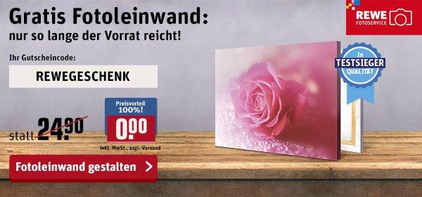 Gratis Fotoleinwand (in 30x20cm) nur Versandkosten 6,90€