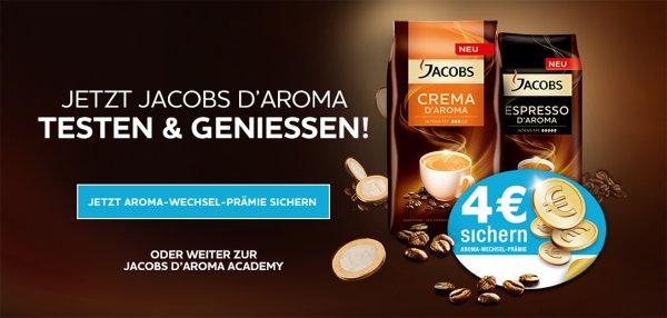 4 € Cashback Aromawechselprämie mit Jacobs D'aroma
