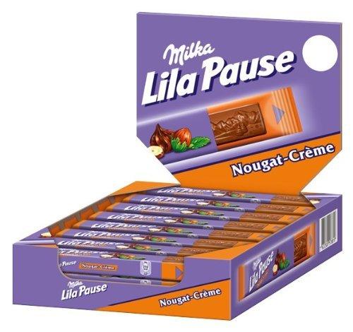 Amazon Prime - Milka Lila Pause Nougat-Créme, 24er Pack (24 x 38 g) Nur 12,34 €