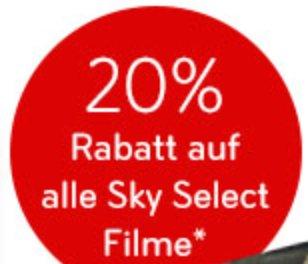 Sky Select: 20% Rabatt auf alle Sky Select Filme im Februar