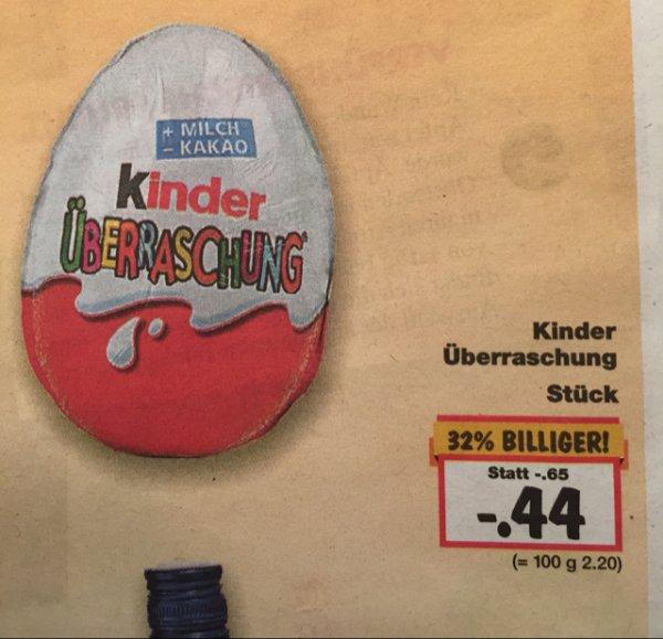 Ü-Ei bei Kaufland zum super Preis