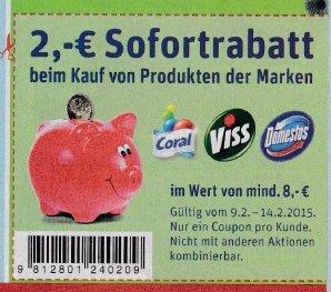 Coral Feinwaschmittel ab 2,28 EUR / 2,33 EUR bei REWE