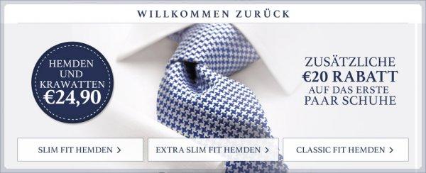 Charles Tyrwhitt: Hemden und Krawatten für 24,90 EUR